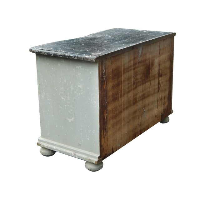 French Bow Front Dresser For Sale - Image 10 of 11