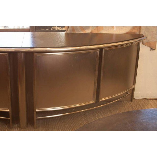 Mid-Century French Industrial Wood, Steel and Chrome Buffet - Image 3 of 5
