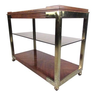 Vintage Two-Tier Service Cart by Drexel Heritage For Sale