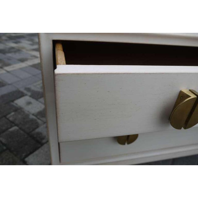 1950s Faux Ivory Low Chest by Dunbar For Sale - Image 5 of 11