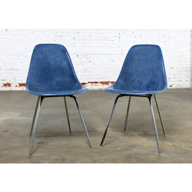 Vintage Herman Miller Eames Molded Fiberglass DSX Chairs - A Pair - Image 3 of 11