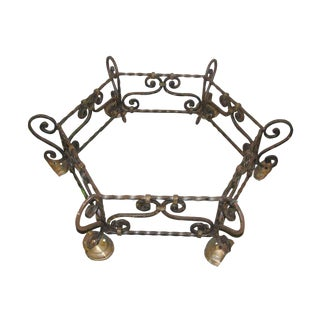 Wrought Iron Rounded Table Base For Sale