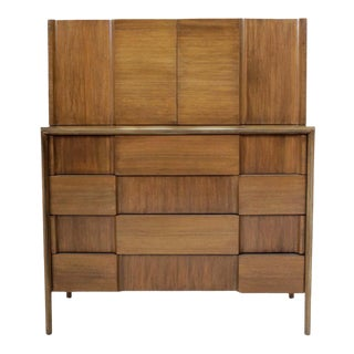 Mid-Century Modern High Chest by Edmond Spence For Sale