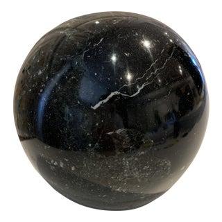 Vintage Black Marble Stone Sculpture For Sale