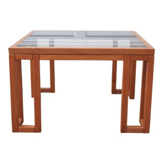 Danish Modern Teak and Glass Side Table