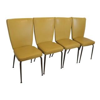 Virtue Bros. Mid-Century Yellow Kitchen Chairs - Set of 4