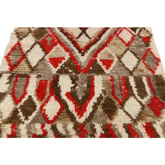 Moroccan Berber Azilal Rug With Tribal Style - 3′ × 6′7″ For Sale In Dallas - Image 6 of 9