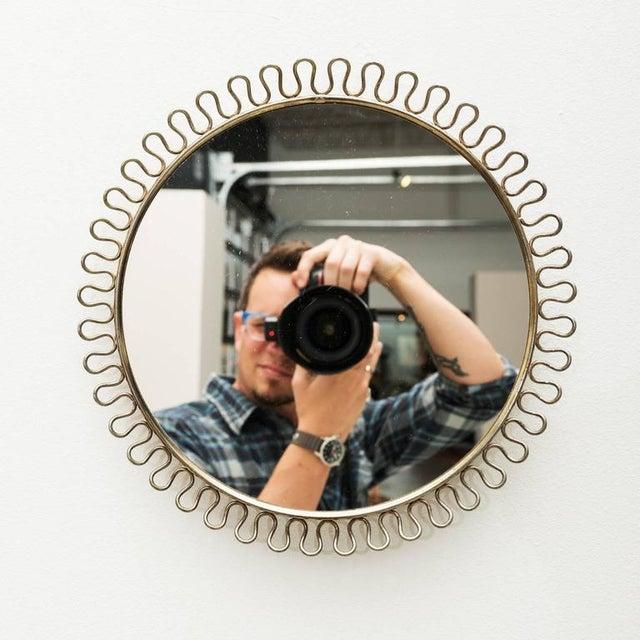 Sculptural Brass Loop Mirror by Josef Frank for Svenskt Tenn Sweden, 1950s For Sale - Image 4 of 5