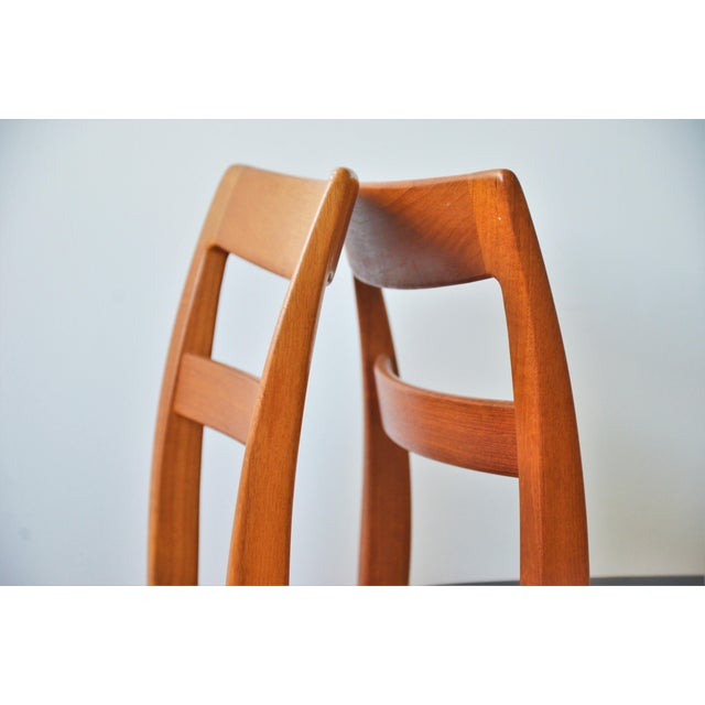 """Brown Swedish Modern Teak """"Garmi"""" Dining Chairs by Nils Jonsson for Troeds - a Pair For Sale - Image 8 of 11"""