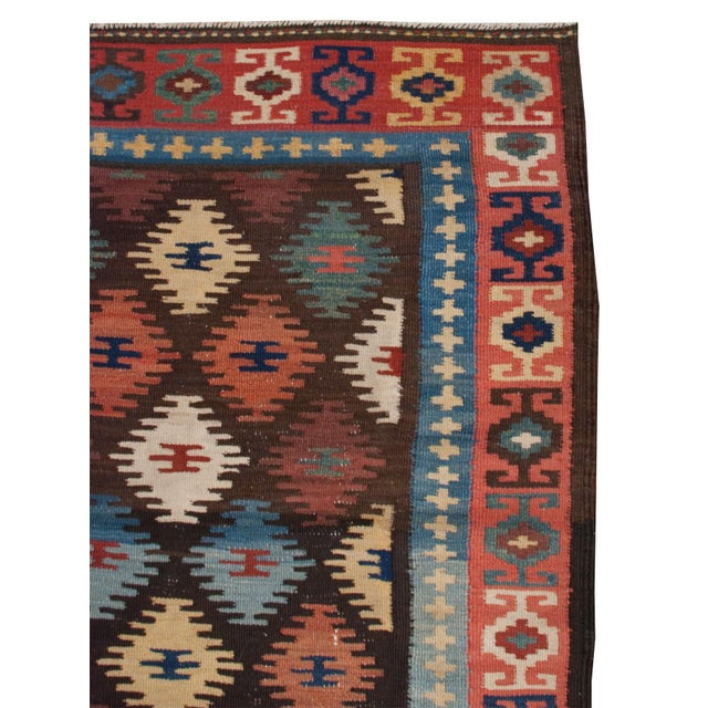 "Persian Early 20th Century Harseen Kilim Runner - 38"" x 99"" For Sale - Image 3 of 4"