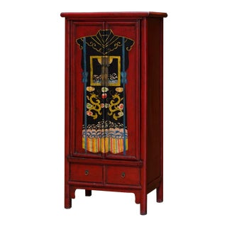 Vintage Mandarin Chinese Robe Motif Armoire For Sale