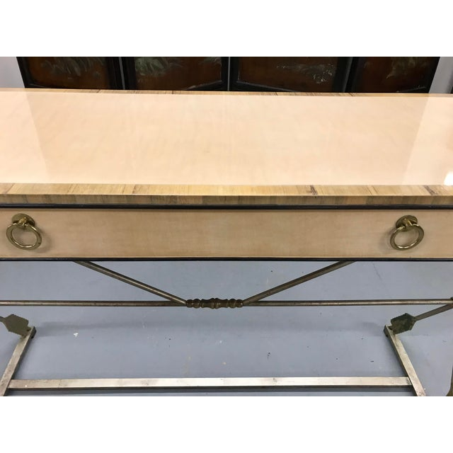 Metal Vintage Neo-Classical Style Console Table For Sale - Image 7 of 8