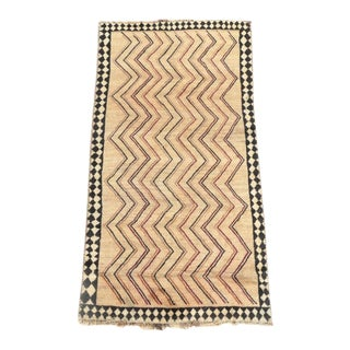 Late 20th Century Hand-Knotted Persian Gabbeh Rug - 3′2″ × 6′8″ For Sale