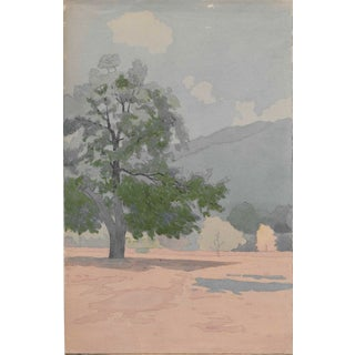 1920s Arts and Crafts California Watercolor by Harnett For Sale