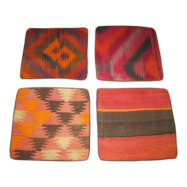 Vintage Kilim Pillow Cases - Set of 4 For Sale
