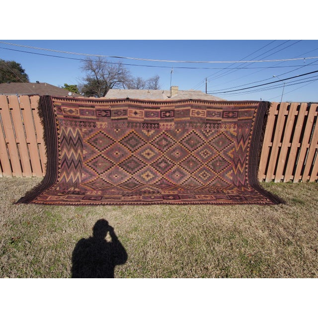 "Purple Diamond Kilim Rug - 8'8"" x 15'1"" - Image 2 of 11"