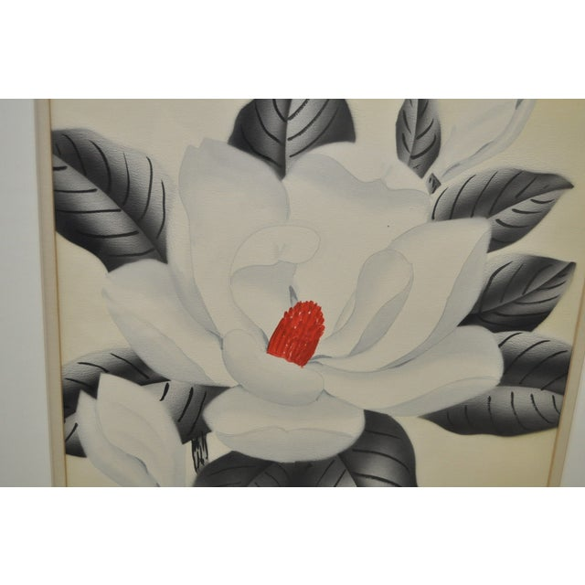 Pair of 1950's Paintings by Shirrell Graves For Sale In San Francisco - Image 6 of 8