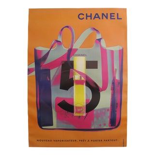 1998 Original Vintage Chanel No. 5 Poster (Orange)