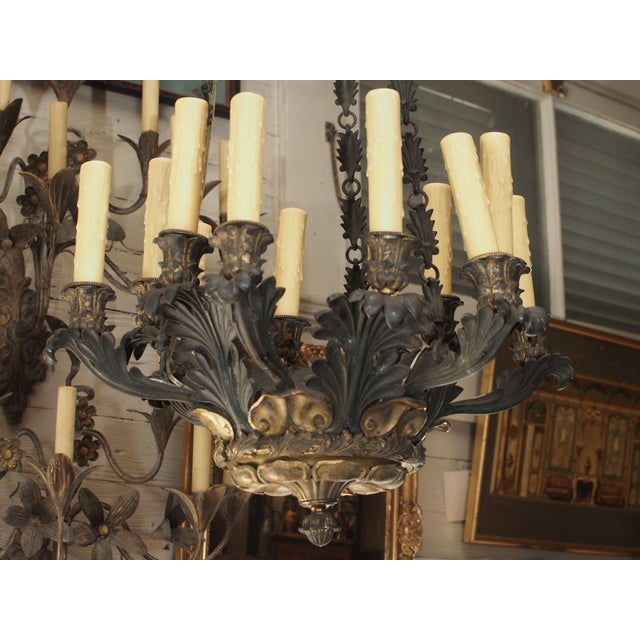 19th Century French Bronze Empire Chandelier - Image 2 of 9