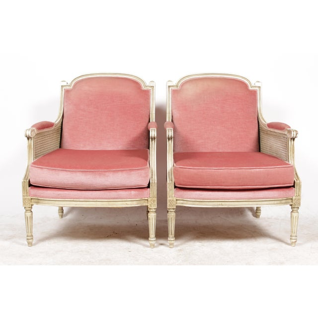 1930s Louis XVI Style Bergere Chairs - A Pair - Image 2 of 10