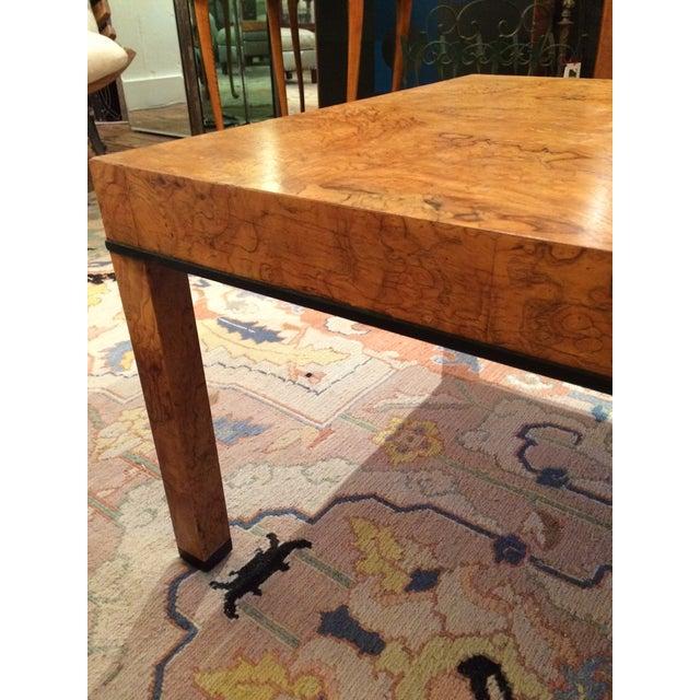 Baker Burlwood Modern Coffee Table - Image 5 of 7