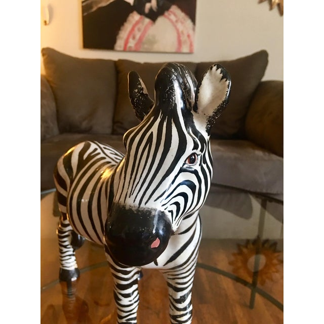 Italian Terra Cotta Zebra For Sale In New York - Image 6 of 9