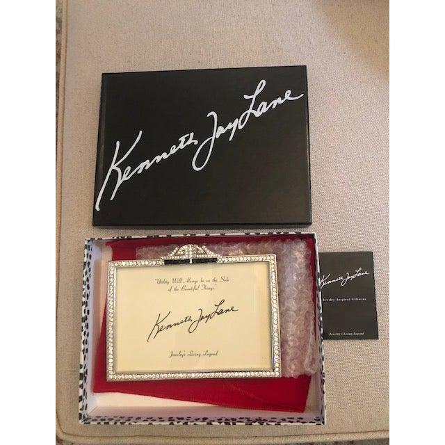Kenneth Jay Lane Kenneth Jay Lane Deco Crystal Picture Frame For Sale - Image 4 of 6