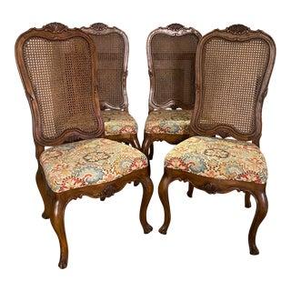 Vintage Dashia Buchanan for Henredon Cane-Back Dining Chairs - Set of 4 For Sale