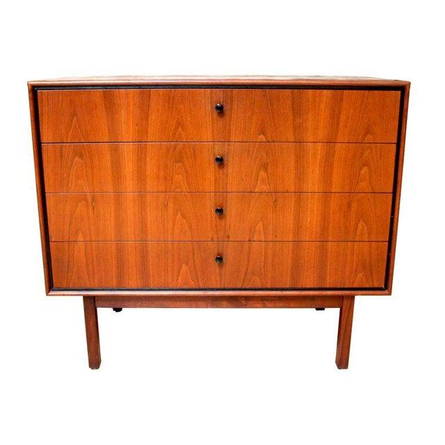 1950s Milo Baughman for Arch Gordon Walnut Four-Drawer Dresser - Image 4 of 10