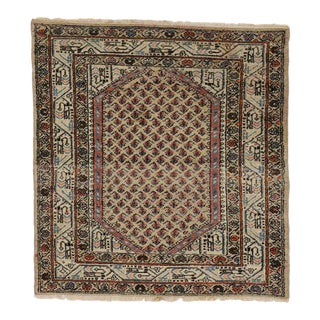 Antique Persian Saraband Rug with Mir Boteh Design