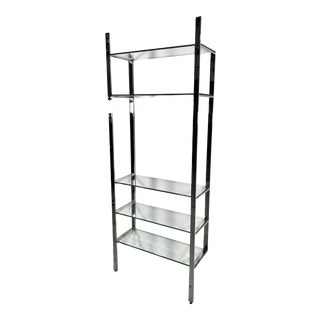 Milo Baughman Design Etagere in Chrome & Glass For Sale