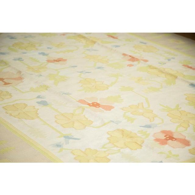 """Vintage Minimalist Dhurrie Carpet - 8'9"""" X 11'10"""" - Image 3 of 10"""