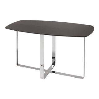 Rectangular Side Table with Iron Base by Jacobo Ventura for C.A. Spanish Handicraft For Sale