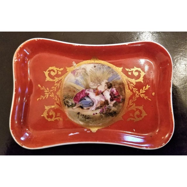 19th C. Sevres Porcelain Trinket Box With Ring Tray - Set of 2 For Sale In Dallas - Image 6 of 13
