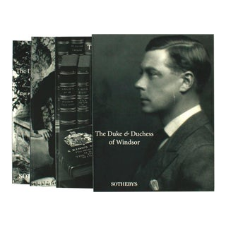 The Duke and Duchess of Windsor Sotheby's 1997 Auction Cataloge Slipcase - Set of 3 For Sale