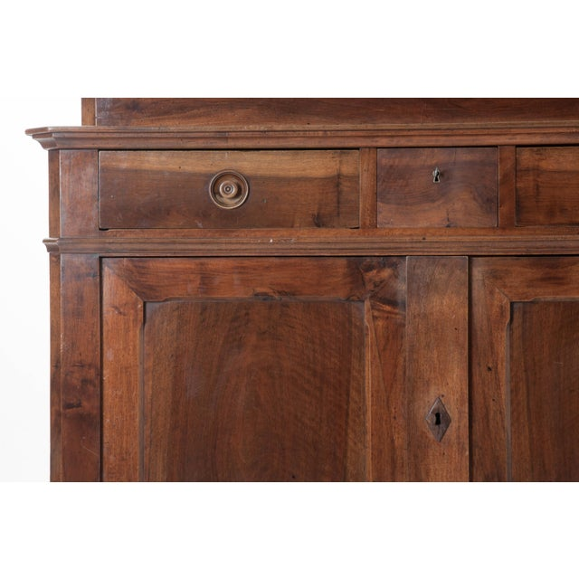 French 19th Century Walnut Louis Philippe Buffet A'Deux Corps - Image 6 of 10