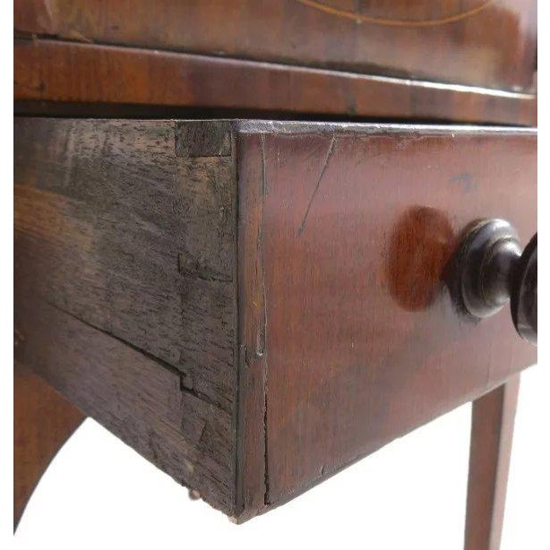 English Mahogany Enclosed Lift Top Dressing Stand For Sale - Image 9 of 10