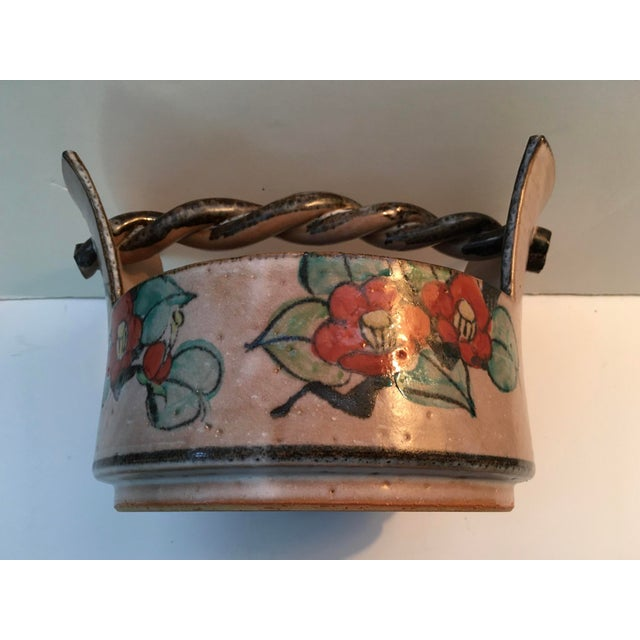 Ceramic Japanese Art Deco Pottery Bowl For Sale - Image 7 of 9