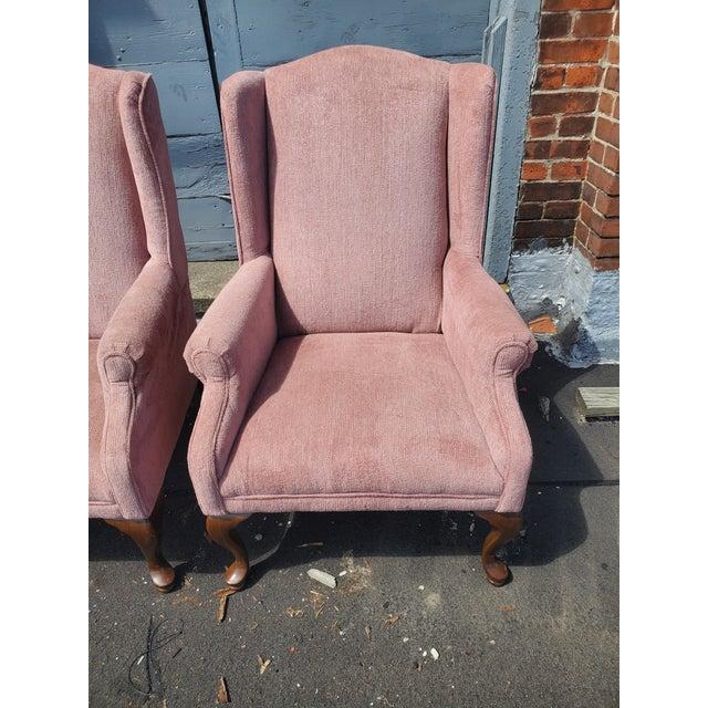 Textile Vintage Blush Pink Velvet Armchairs - a Pair For Sale - Image 7 of 12