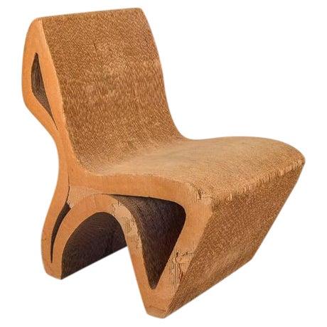 Vintage Corrugated Cardboard Chair For Sale