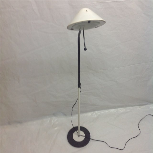 Modern Floor Lamp & Bullet Shade For Sale - Image 4 of 6