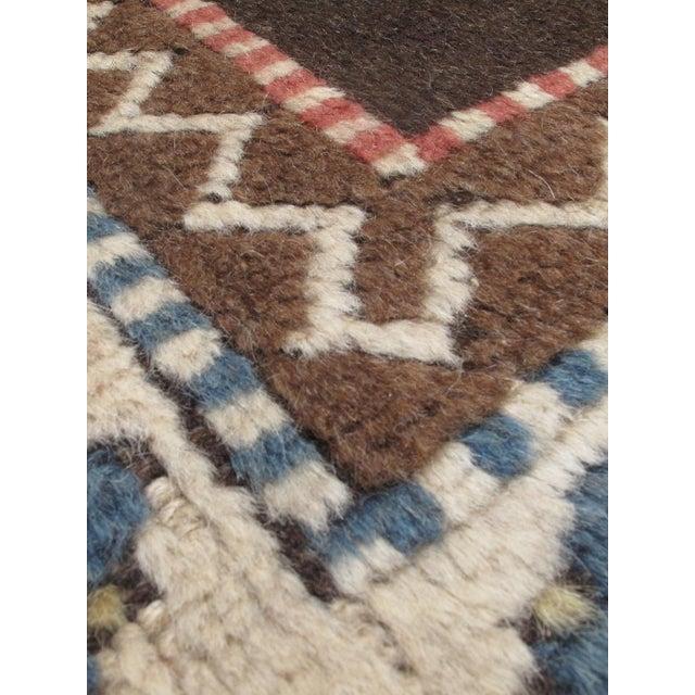 "Antique Shiravan Brown Wool Rug - 5'11"" X 8'4"" - Image 2 of 2"
