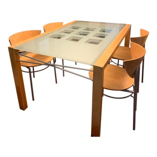 Modern Peter Maly Extensia Ligne Roset Dining Set - 5 Pieces For Sale
