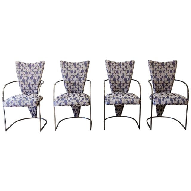 Dining Chairs, Set of 4, by Design Institute America, Midcentury, Reupholstered For Sale