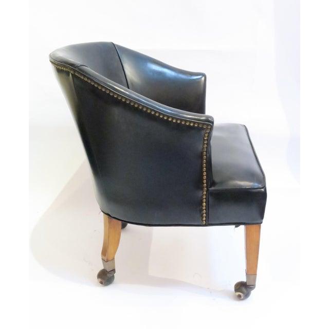 Vintage Black Armchair - Image 4 of 6