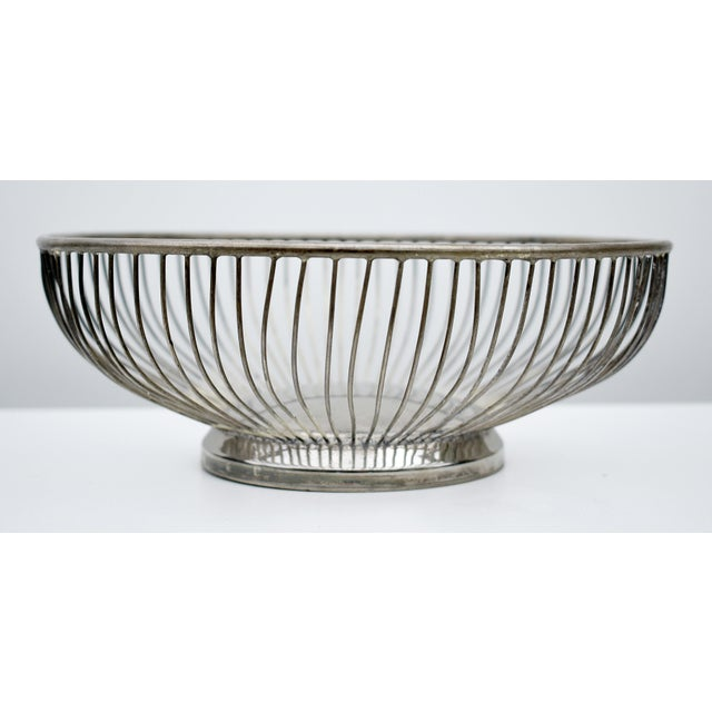 1970s 1970s Vintage Silver Plated Wire Bowl For Sale - Image 5 of 5