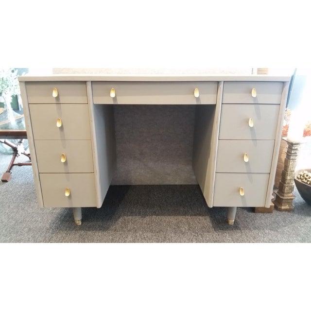 Mid-Century Modern Sligh-Lowry Partner Desk For Sale - Image 10 of 10