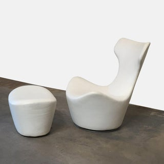 Modern B&b Italia 'Grande Papilio' Lounge Chair & Ottoman Preview