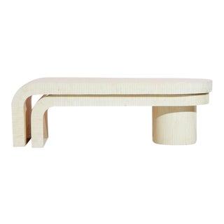 Tessellated Bone Swivel Coffee Table For Sale