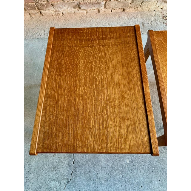 Mid-Century Modern Midcentury Gordon Russell Nest of Tables Set of Three Oak, 1950s - Set of 3 For Sale - Image 3 of 13